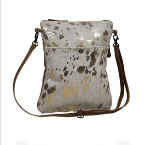 MYRA BAG speckled leather cowhide small crossbody